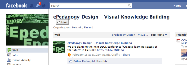 E-pedagogy facebook logo