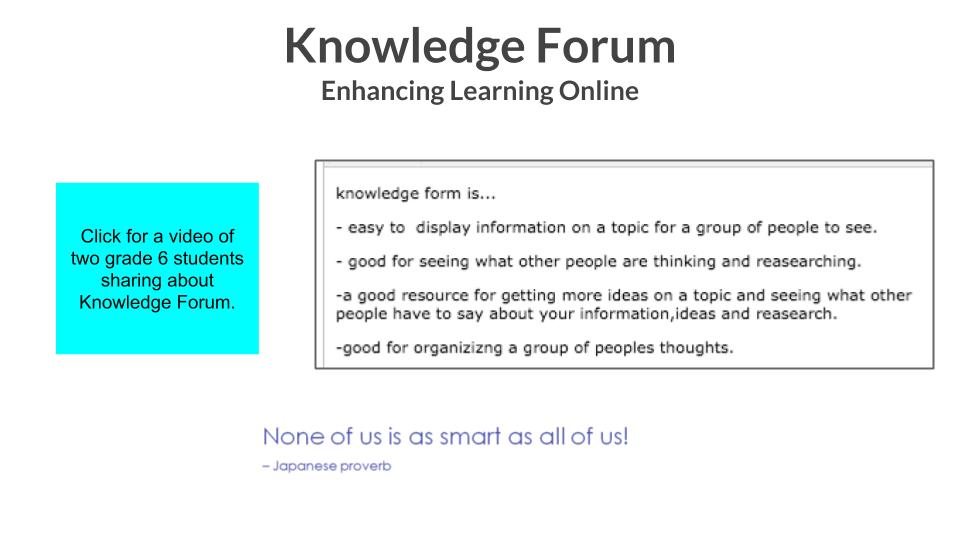 Knowledge Forum overview
